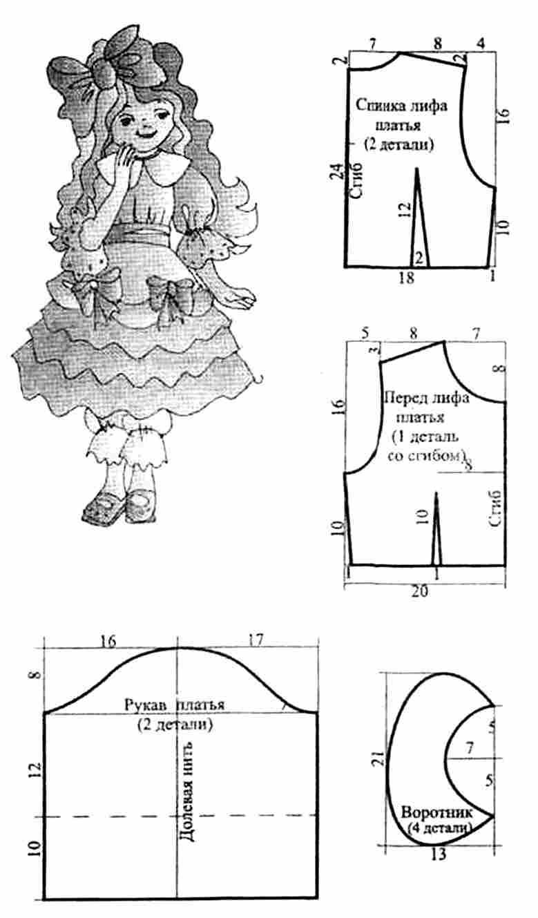 Платья новогодние для девочки сшить своими руками выкройки