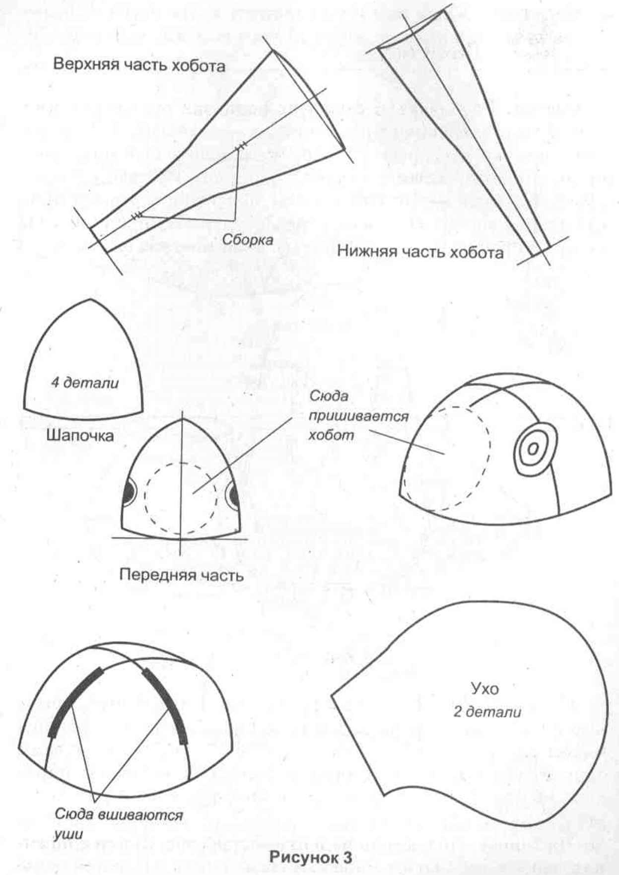 схема выкройки плащ накидки костюм богатыря
